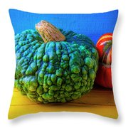 Graphic Autumn Pumpkins And Gourds Throw Pillow
