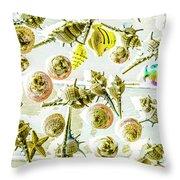 Graphically Aquatic Throw Pillow