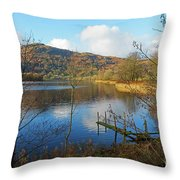 Grasmere In Late Autumn In Lake District National Park Cumbria Throw Pillow