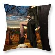 Grave Sunset Throw Pillow