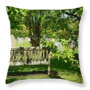 Graveyard Bench Throw Pillow