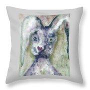 Gray Bunny Love Throw Pillow