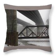 Gray Day Bridging Throw Pillow