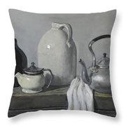 Gray Matters Throw Pillow