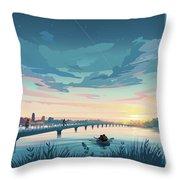 Grays Lake Throw Pillow by Clint Hansen