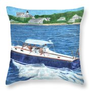 Great Ackpectations Nantucket Throw Pillow by Dominic White