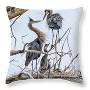 Great Blue Heron Rookery 4 Throw Pillow