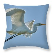 Great Egret, Yolo County California Throw Pillow