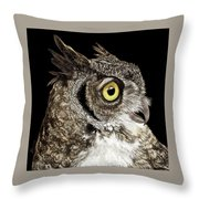 Great-horned Owl Throw Pillow