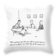 Great Start Throw Pillow