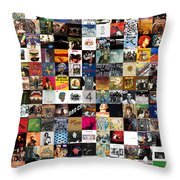 Greatest Rock Albums Of All Time Throw Pillow