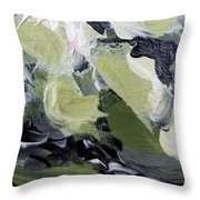 Green #1 Throw Pillow