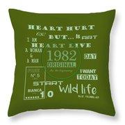 Green 1982 Original Throw Pillow