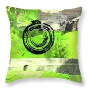 Green Balance No. 4 Throw Pillow