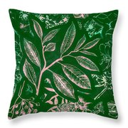 Green Composition Throw Pillow