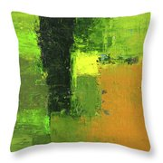 Green Envy Abstract Painting Throw Pillow