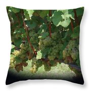Green Grapes On The Vine 16 Throw Pillow