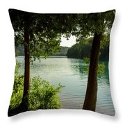 Green Lake, Ny Throw Pillow
