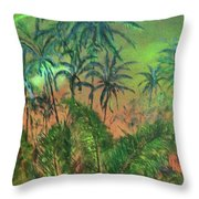 Green Of The Night Throw Pillow