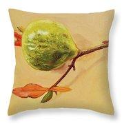 Green Pomegranate Throw Pillow