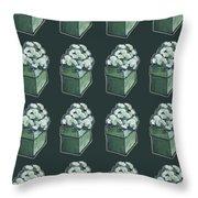 Green Present Pattern Throw Pillow