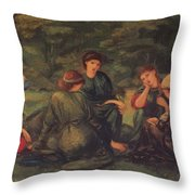 Green Summer 1868 Throw Pillow