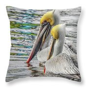 Greeting Party Throw Pillow