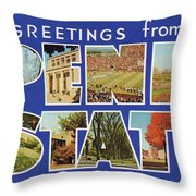 Penn State Greetings Throw Pillow by Mark Miller