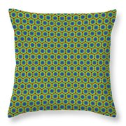 Grid Number 1 Throw Pillow