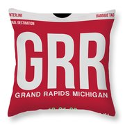 Grr Grand Rapids Luggage Tag II Throw Pillow