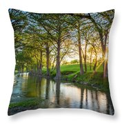 Guadalupe River Sunset Throw Pillow