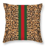 Gucci Leopard Print-1 Throw Pillow
