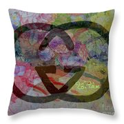 Gucci Logo With Peony  Throw Pillow