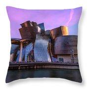 Guggenheim Museum - Bilbao, Spain Throw Pillow