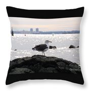 Gull Isle II Throw Pillow
