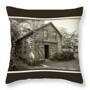 H. Brooks - Cabinet And Chair Maker -workshop Throw Pillow