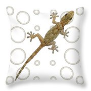 H Is For House Gecko Throw Pillow