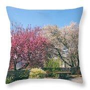 Springtime At Untermyer Park Throw Pillow