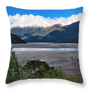Haast Valley - New Zealand Throw Pillow