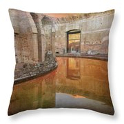 Hadrian's Villa Portico Throw Pillow