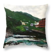Hakone In Natural Splendor Throw Pillow