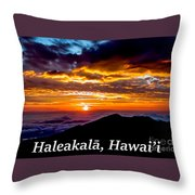 Haleakala Hawaii Throw Pillow