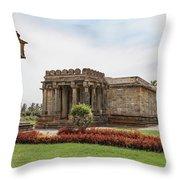 Halebid, Parshvanatha Basadi Throw Pillow
