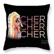 Half Breed Cher Throw Pillow