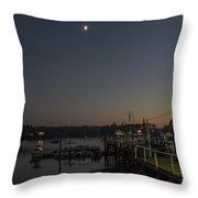 Half Moon Over Hide-away Area Throw Pillow