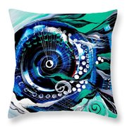 Half Smile Break The Ice Fish Throw Pillow