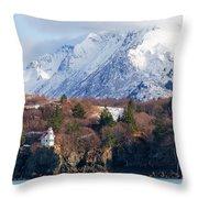 Halibut Cove Kenai Peninsula Alaska Throw Pillow