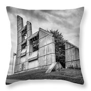 Halifax Explosion Memorial Bell Tower Bw Throw Pillow