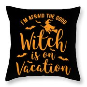 Halloween Shirt Good Witch On Vacation Gift Tee Throw Pillow
