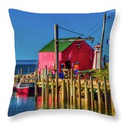 Halls Harbour Nova Scotia Throw Pillow